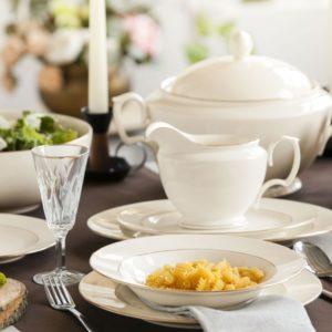 Zestaw obiadowy dla 12 osób porcelana MariaPaula Ecru 12/41