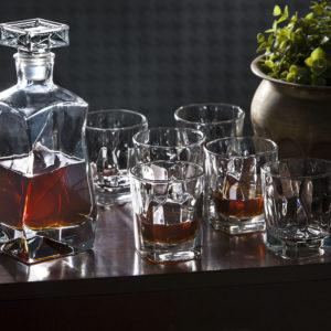 Zestaw do whisky karafka 0,75l + 6 szklanek 280ml