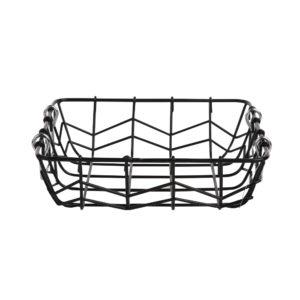 ALTOM Koszyk metalowy czarny z uchwytem