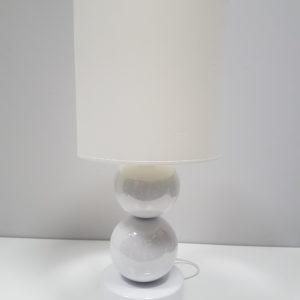 BIAŁA Lampka stołowa nocna Perła II 25×56