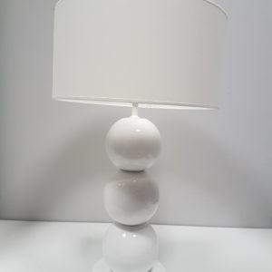 A-Z Decor Lampa stołowa Perla III biała 40×69