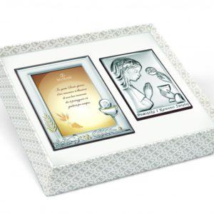 Zestaw Obrazków Srebrnych Pamiątka Pierwszej Komunii Świętej