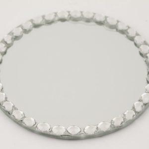 Podstawka srebrna szkło 12,5cm