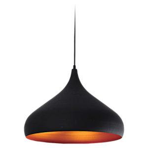Lampa wisząca Tuba Czarny/Złoty