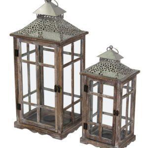 ART-POL Lampion drewniany mały S2
