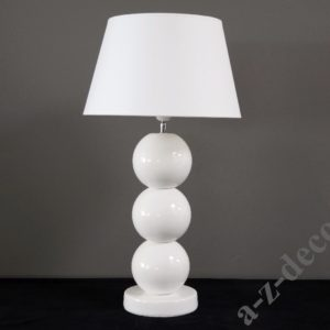 Lampa stołowa nocna biała Perła 39/71 cm