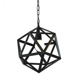 Lampa wisząca Cage metalowa czarna