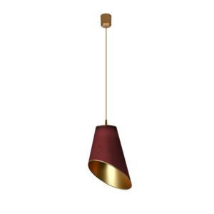 Lampa wisząca Fodlie di sole bordo/złoto 110/38/28