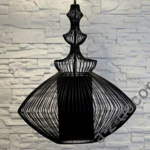 Lampa wisząca Opium czarna 35x55
