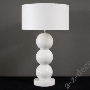 Lampka stołowa Perła biała 40X69