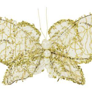 Motyl biało-złoty