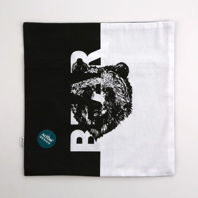 ALTOM Poszewka dek.40×40 dzikie zwierzęta bear