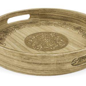 ART-POL Taca okrągła rzeźbiona drewno