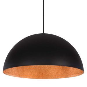 Lampa wisząca Tuba Czarna/Złota