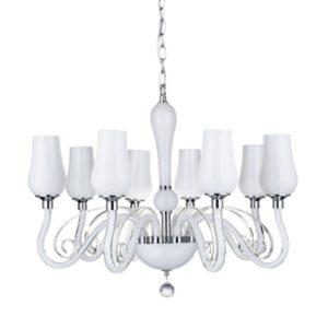 Lampa wisząca Lutecja żyrandol biały