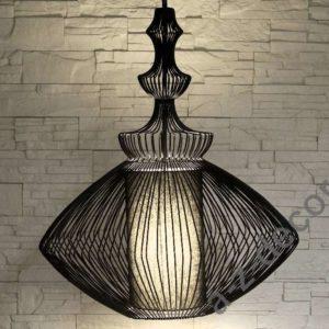 A-Z Decor Lampa wisząca OPIUM czarna 35×55