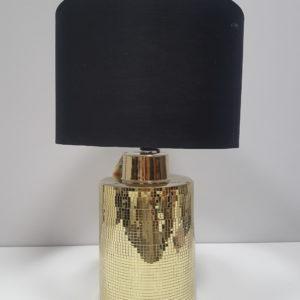 LAMPA STOŁOWA W KOLORZE CZARNY/ ZŁOTY SQUARE 55cm