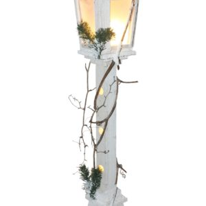 LAMPION DREWNIANY LEDOWY