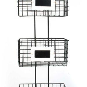 CEDRIC Półka 3-kosze metal 23x15