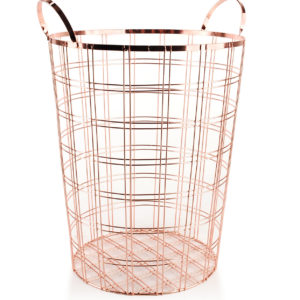CEDRIC Kosz metal 32,5 x 30,5 x 44 cm mosiądz