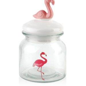 Słój szklany FLAMINGO 600ml 10