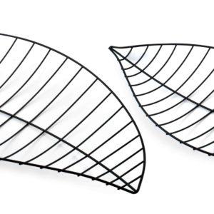CEDRIC Kpl.2 liści dekoracyjnych 46x23x