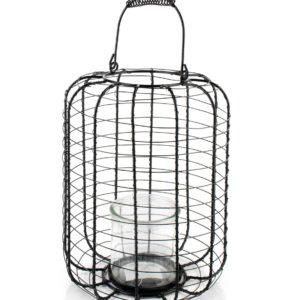 CEDRIC Lampion 23xh28cm                  szkło 10x10cm