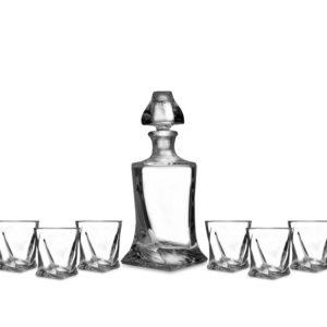 Zestaw Quadro karafka i kieliszki do likieru, nalewek 7 elementów