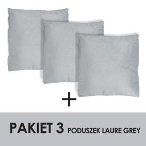 PAKIET LAURE GREY KPL.3 PODUSZEK
