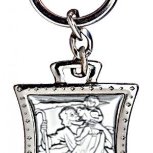 Brelok srebrny Święty Krzysztof