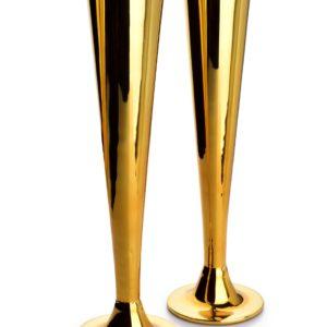 NAYRA GOLD KPL. 2 KIELISZKÓW DO SZAMPANA  200ml 5,5×7,2xh27,5cm